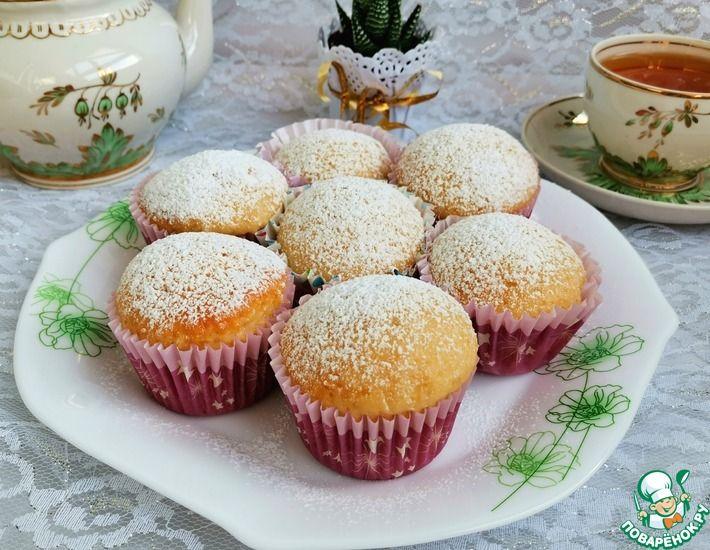 Рецепт: Бискитные яблочные кексы