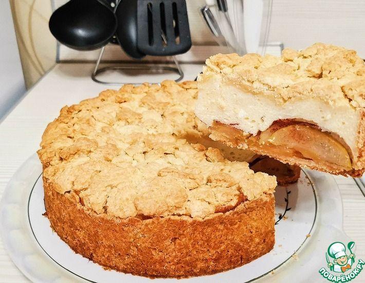Рецепт: Яблочный пирог с творогом