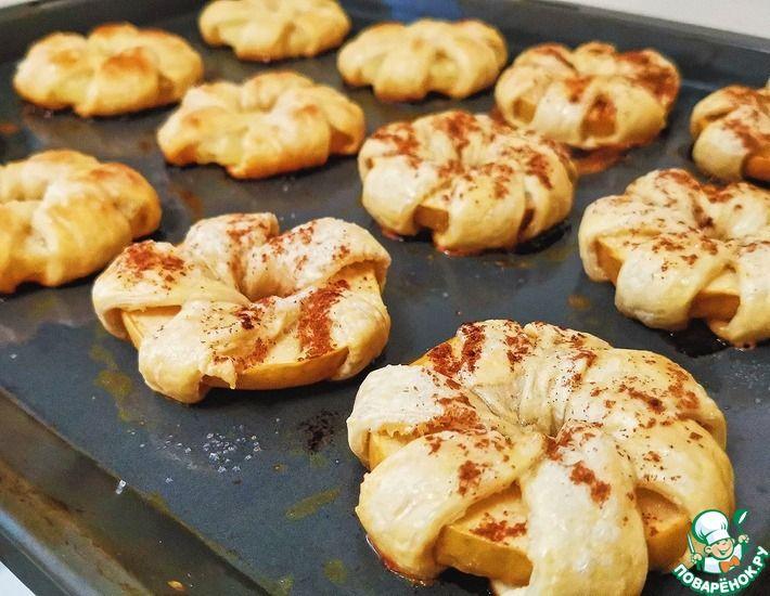 Рецепт: Слойки из яблок или ананасов