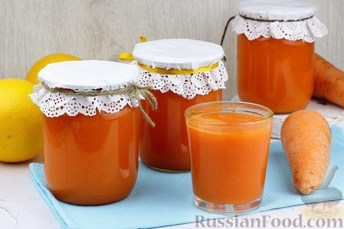 Фото к рецепту: Морковно-апельсиновый сок (на зиму)
