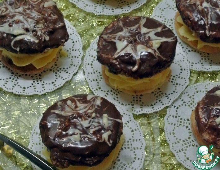 Рецепт: Пирожное Буше с ванильным пудингом