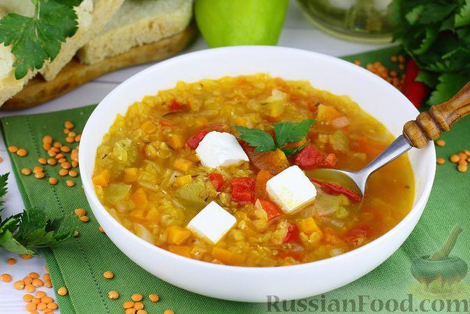 Фото к рецепту: Факес (греческий суп с чечевицей)