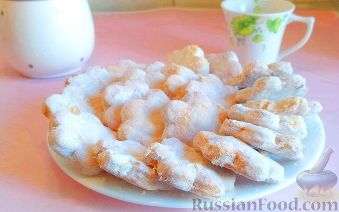 Фото к рецепту: Слоёное печенье на смальце