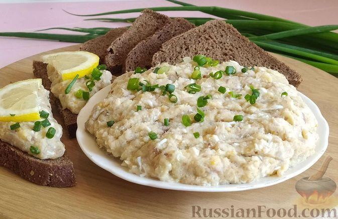 Фото к рецепту: Форшмак из копчёной и солёной сельди, с картошкой и яйцами