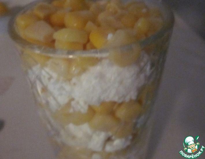 Рецепт: Лёгкий простой десерт к завтраку на скорую руку
