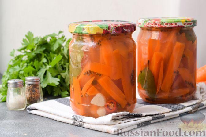 Фото к рецепту: Маринованная морковь без уксуса (на зиму)