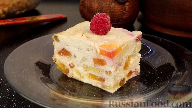 Фото к рецепту: Творожная запеканка с фруктами (без сахара)