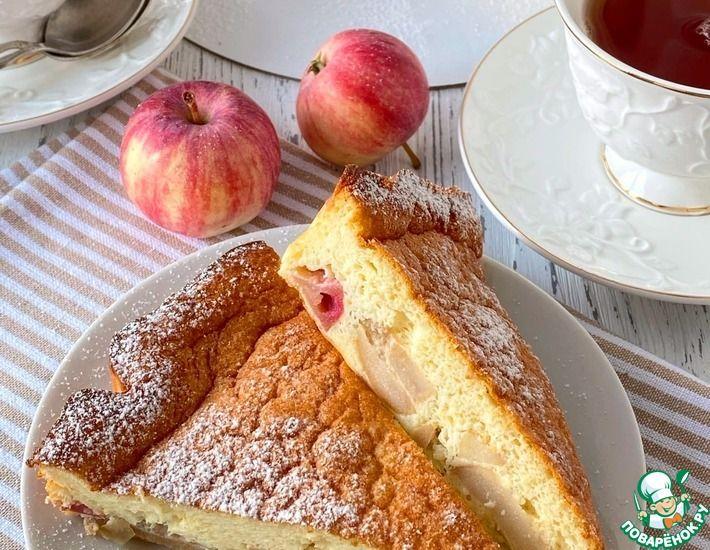 Рецепт: Йогуртовый яблочный пирог