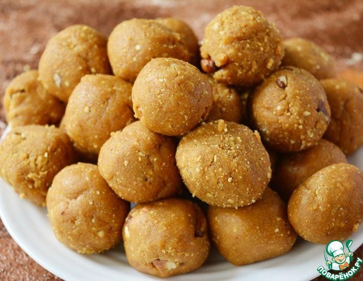 Рецепт: Конфеты из печенья, грецких орешков и сгущенки