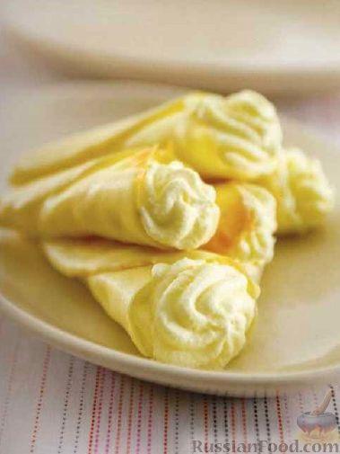 Фото к рецепту: Трубочки с яблочно-сливочным кремом