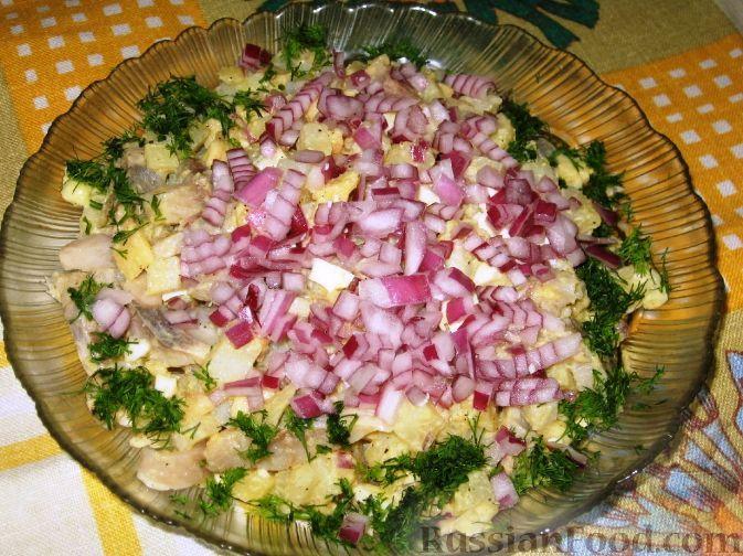 Фото к рецепту: Датский салат из сельди