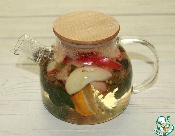 Рецепт: Мятно-фруктовый чай с цветками липы