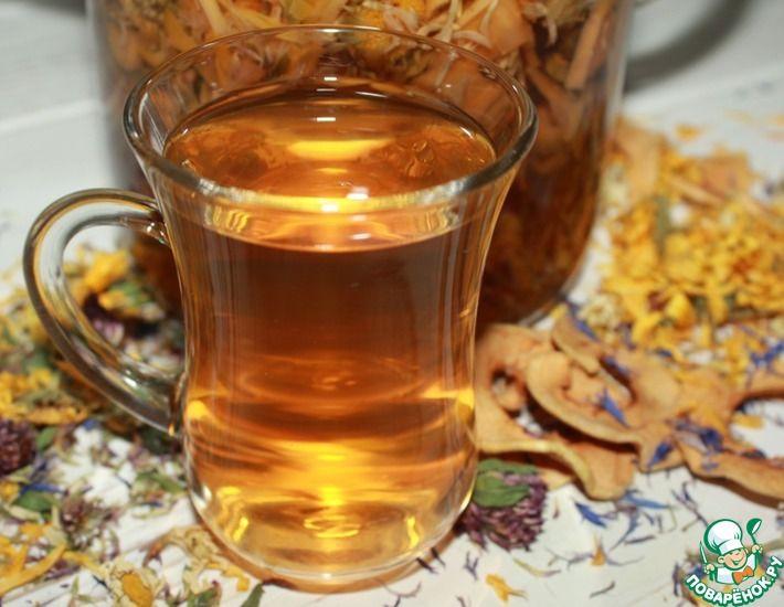 Рецепт: Яблочно-цветочный напиток
