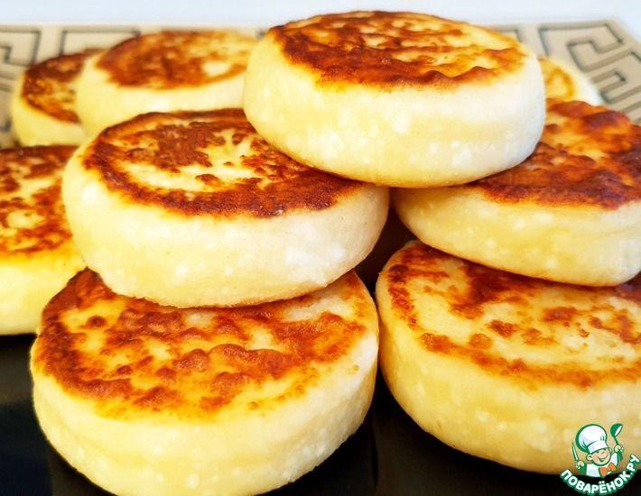 Рецепт: Сырники на сковороде Высокие и Ровные