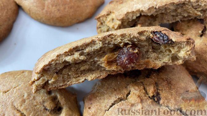 Фото к рецепту: Овсяное печенье без сахара