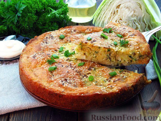 Фото к рецепту: Заливной пирог с капустой (на сметане)