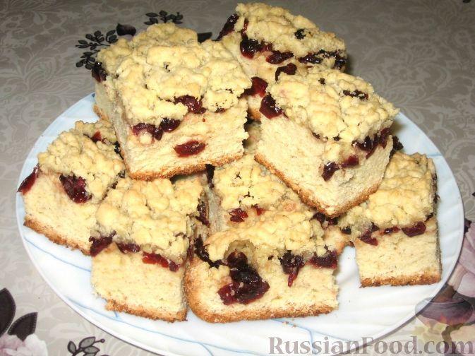 Фото к рецепту: Клюквенный пирог