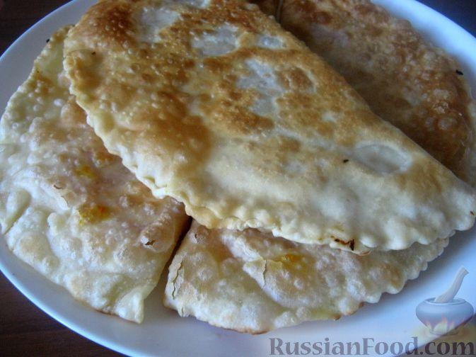 Фото к рецепту: Чебуреки с тыквой постные