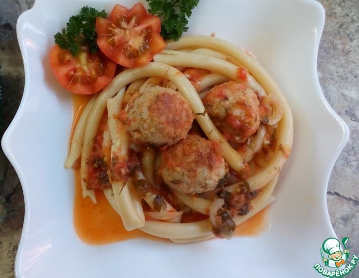 Рецепт: Тефтели мясные с овощной подливой