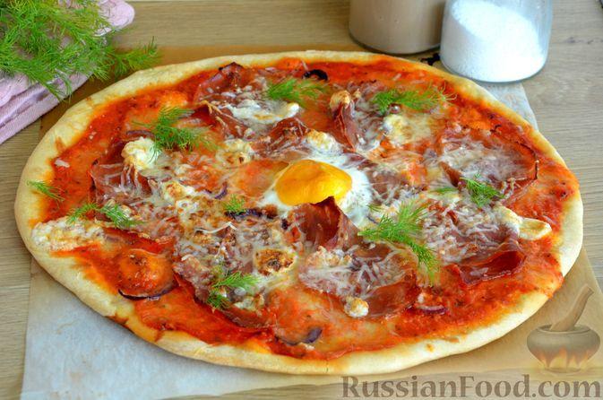 "Фото к рецепту: Пицца ""Карбонара"""