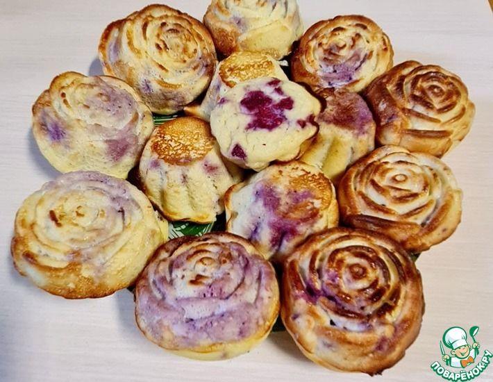 Рецепт: Ароматные кето-кексы с малиной