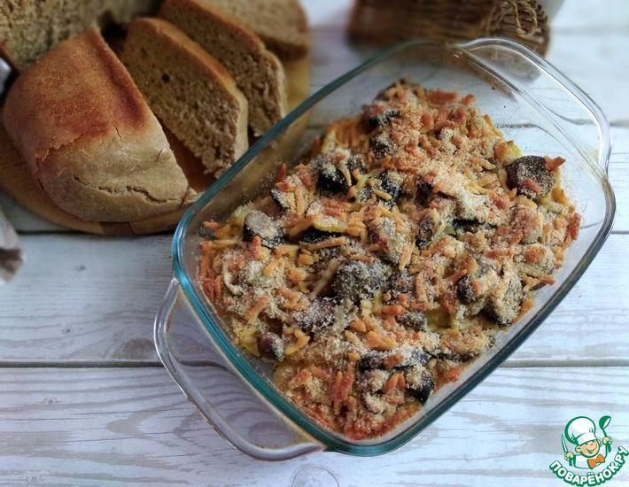 Рецепт: Картофель с грибами запечённый