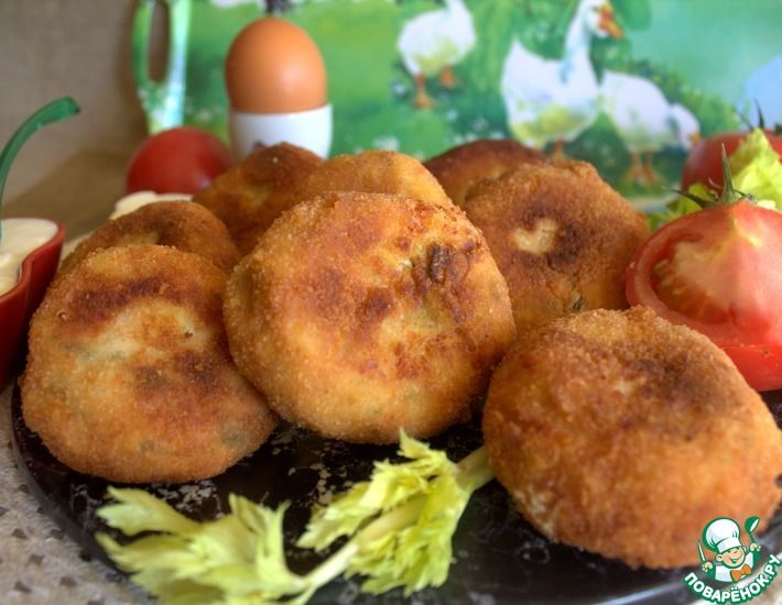 Рецепт: Картофельные бомбочки с сыром