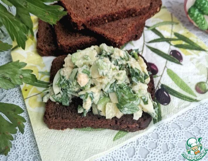 Рецепт: Яичный салат с авокадо