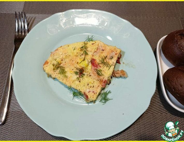 Рецепт: Омлет с курицей и томатами в мультиварке