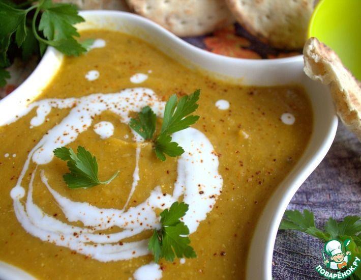 Рецепт: Суп тыквенный с кокосовым молоком