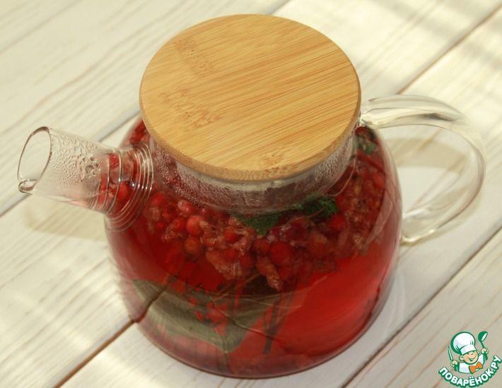 Рецепт: Бруснично-малиновый чай от Ю. Высоцкой