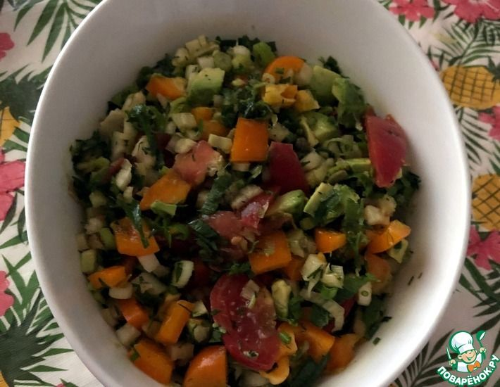 Рецепт: Салат с овощным фенхелем и перцем
