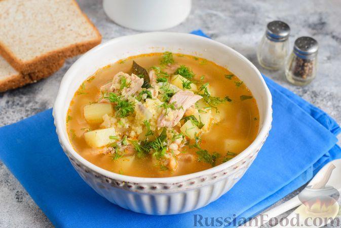 Фото к рецепту: Куриный суп с пшеном