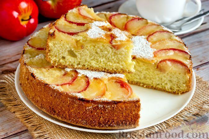 Фото к рецепту: Классическая шарлотка с яблоками