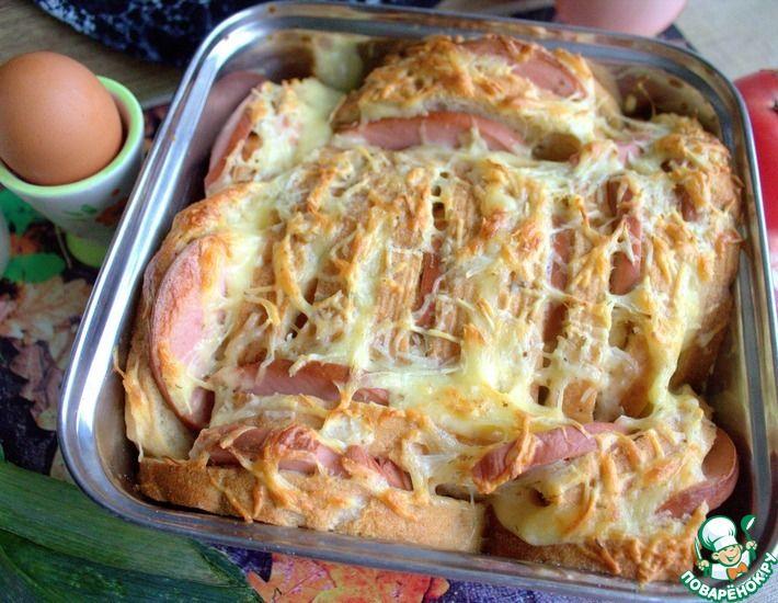 Рецепт: Чиабатта с колбасой и сыром